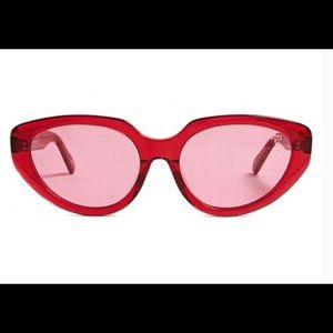Red retro cat eye sunglasses